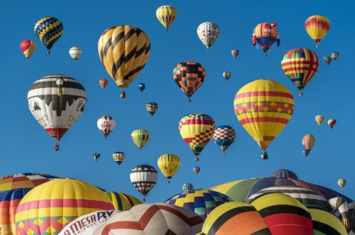 Elevate yourself with a hot air balloon ride